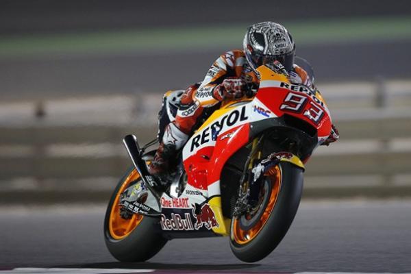 Rider Repsol Honda, Marc Marquez di sesi tes resmi MotoGP Qatar