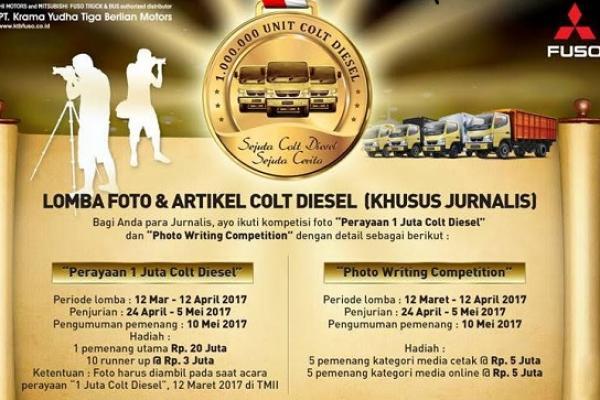 Lomba foto dan artikel Colt Diesel khusus jurnalis dari PT Krama Yudha Tiga Berlian Motors. (foto : KTB)