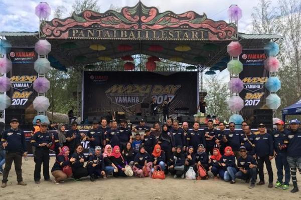 Aksi kemeriahan kegiatan MaxiYamahaDay di Medan, Sumatera Utara. (foto : ymh)