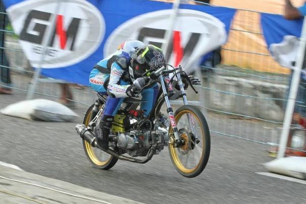 Pertamax Motorsport Drag Bike kali ini digelar di Banjar Patroman, Jawa Barat