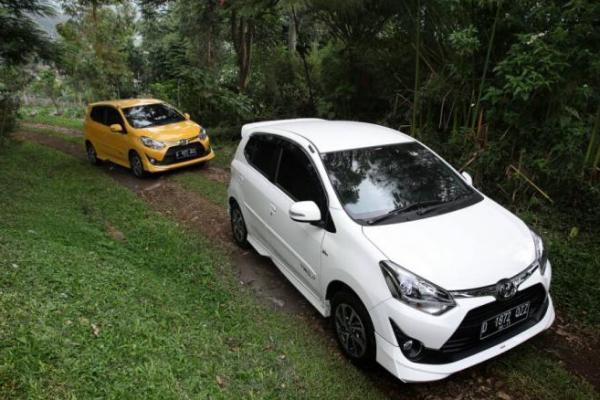 New Toyota Agya mampu berikan kenyamanan berkendara di jalur offroad dan menanjak