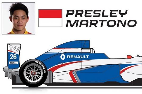 Presley Martono berjuang di race 2  Formula Renault, Monako. (foto : ist)
