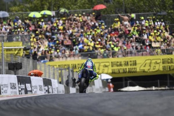 Valentino Rossi akan menjadikan sirkuit Catalunya sebagai ajang test. (foto : VR46)