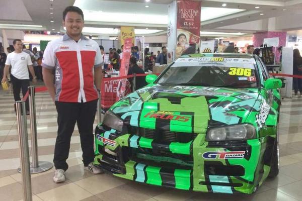 M Farhan Maulana, menemukan rasa asik dan fun pada olahraga drifting. (foto : ist)