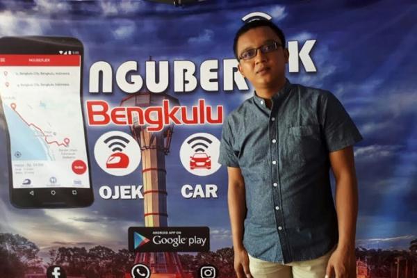 Gerry Duta, CEO ng-UBERJEK Bengkulu. (foto : Bangve)