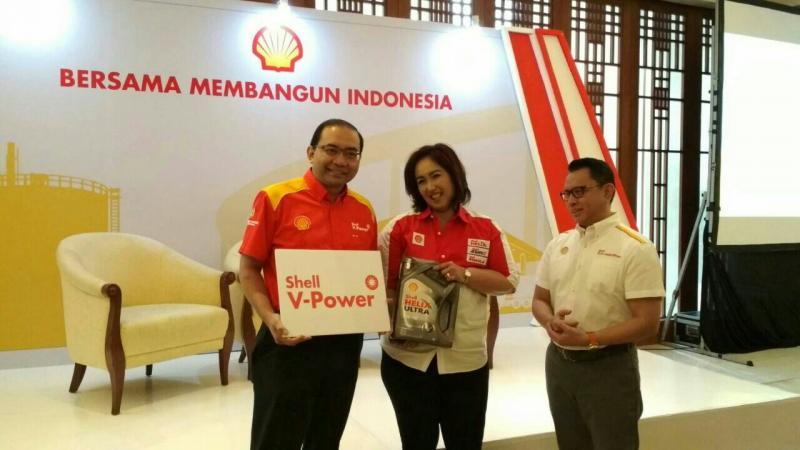 Para petinggi Shell Indonesia saat preskon di Jakarta