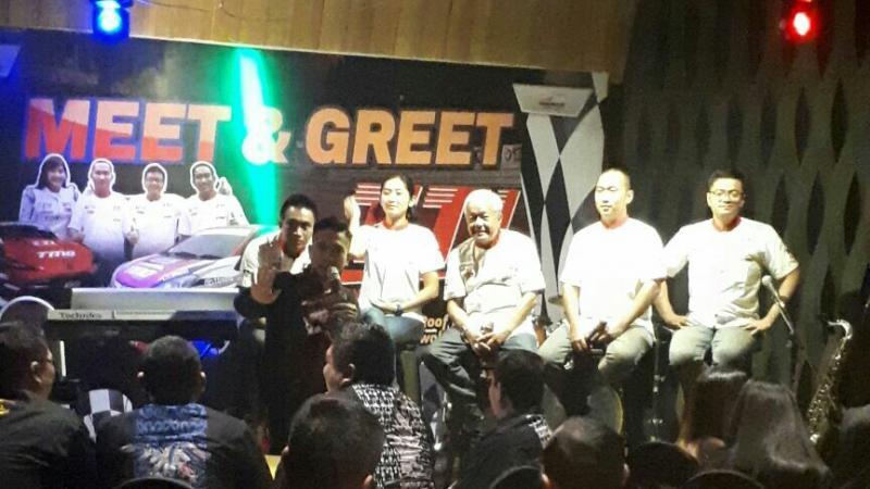 Para pebalap Toyota Team Indonesia saat Meet and Greet di Purwokerto