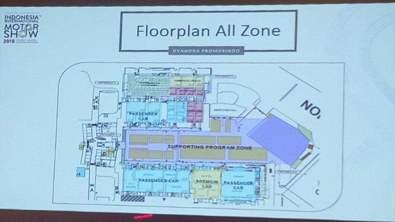 floor plane untuk penyelenggaraan IIMS 2018 sudah disounding secara resmi