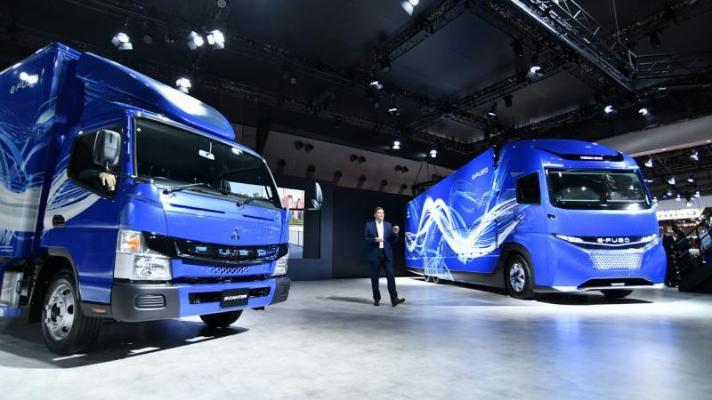 EFUSO truk baru andalan Mitsubishi yang dipamerkan di Tokyo Motor Show 2017. (foto : Mitsubishi)