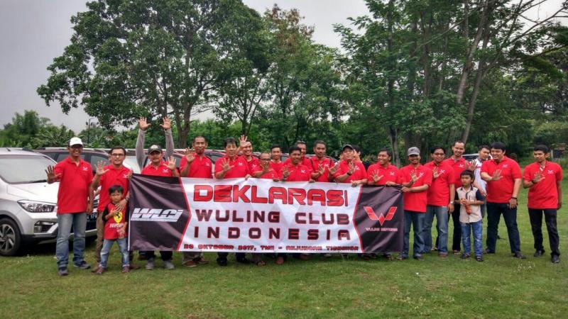 Komunitas mobil Wuling dideklarasikan di Taman Mini Indonesia Indah. (foto : ria)