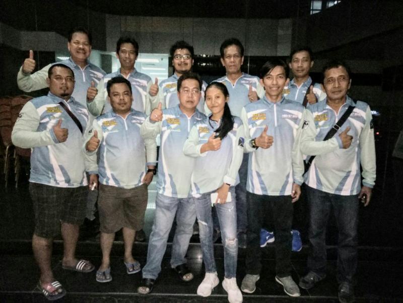 Tim HRVRT BMB Kalsel siap sebarkan virus time rally di Indonesia. (foto : istimewa)