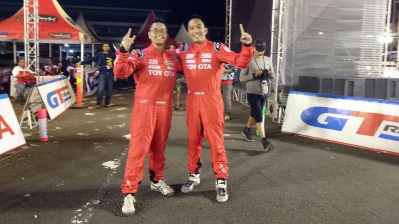 Duo peslalom Toyota Team Indonesia akhirnya menyandingkan jurnas kelas A dan F tahun 2017. (foto : budsan)