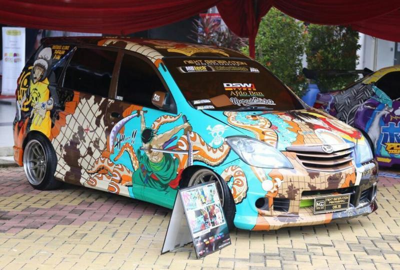 Salah satu peserta kontes modifikasi Daihatsu di Pekanbaru. (foto : ADM)