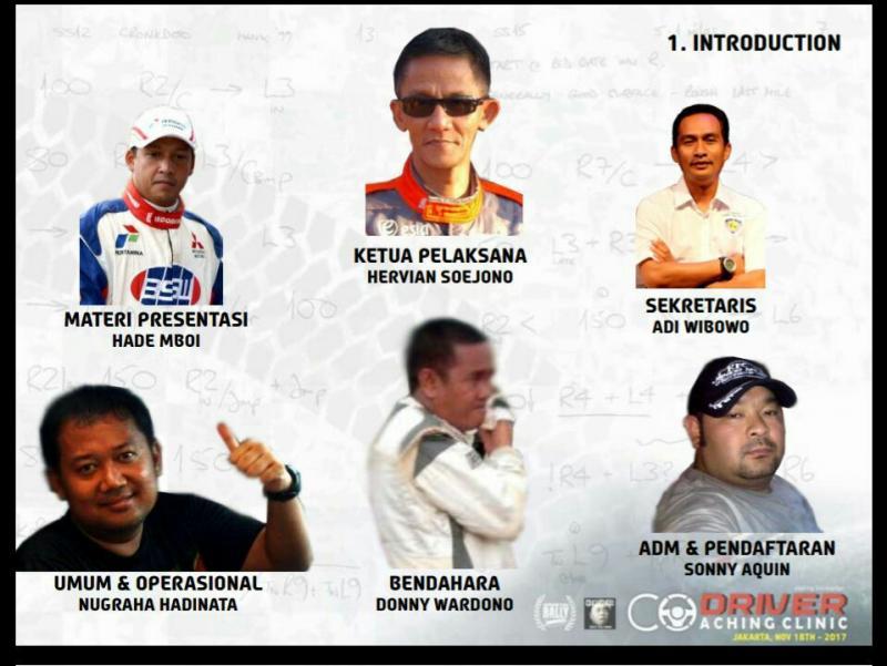 Para nara sumber acara Co-driver Coaching Clinic di Jakarta, Sabtu (18/11)