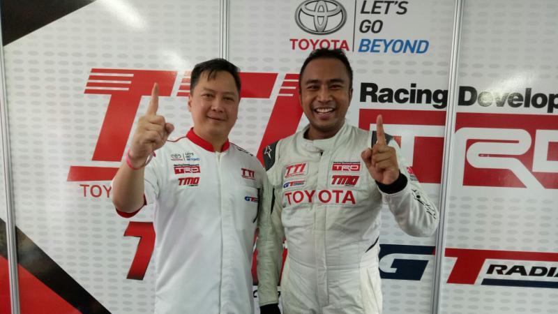 Leonard Gozali dan Haridarma Manoppo, GT Radial ban juara. (foto : budsan)