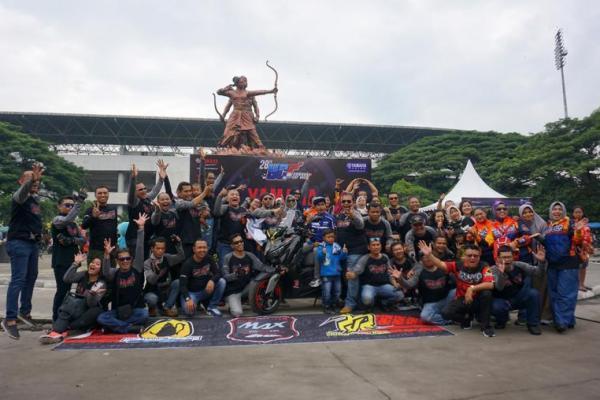 Ratusan komunitas motor Yamaha ramaikan gelaran seri pamungkas Yamaha Cup Race (YCR) 2017 di Solo (ist)