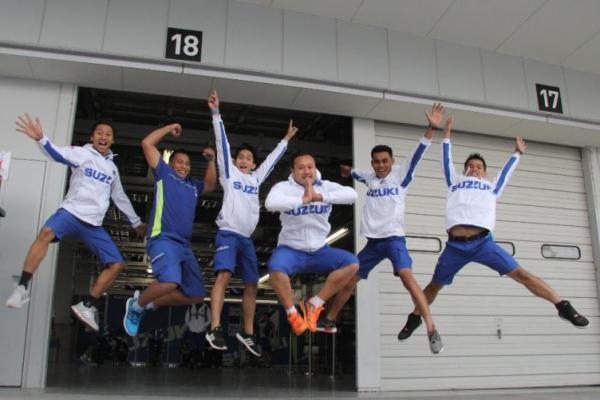 Team Suzuki Indonesia bersemangat tampil di seri penentuan Suzuki Asian Challenge 2017 di Thailand akhir pekan ini (ist)