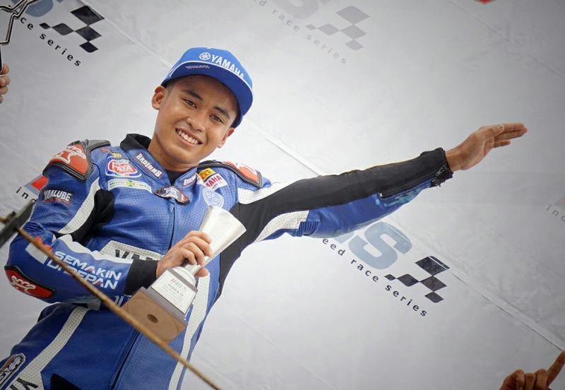 Galang Hendra, andalan Yamaha di ajang international raih podium di Sentul. (foto : ymh)
