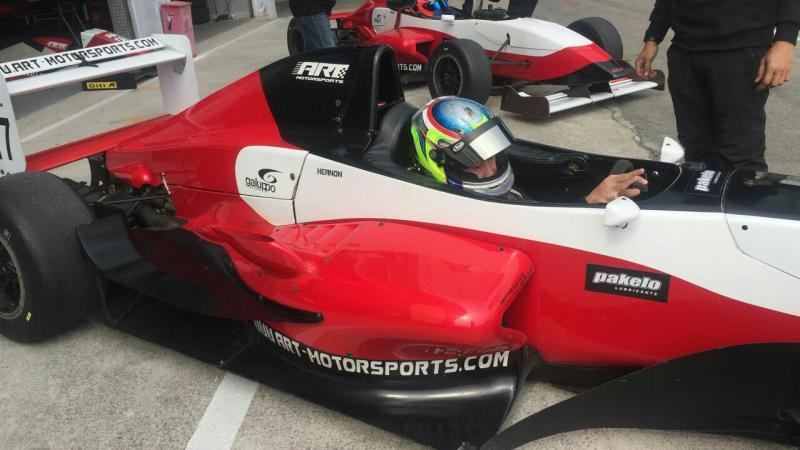 Keanon Santoso di kokpit mobil Asia Formula Renault. (foto : ist)