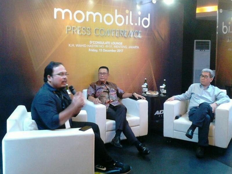 Suasana preskon peluncuran momobil.id di Jakarta. (foto : anto)