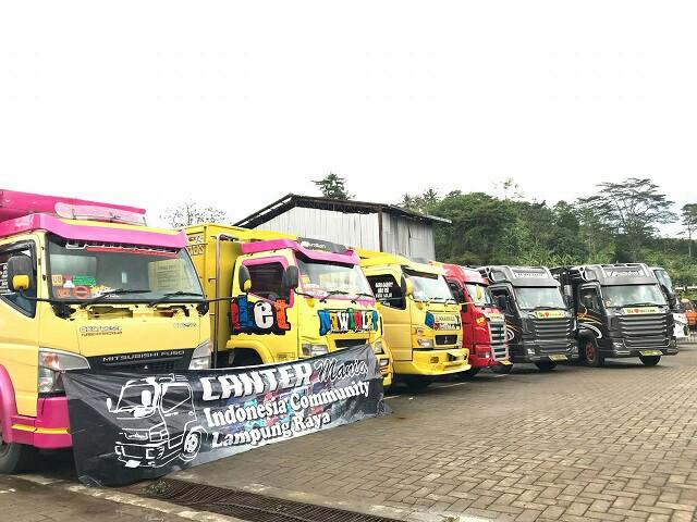 Road Show Mitsubishi FUSO sampai di Bandar Lampung. (foto : MMKSI)