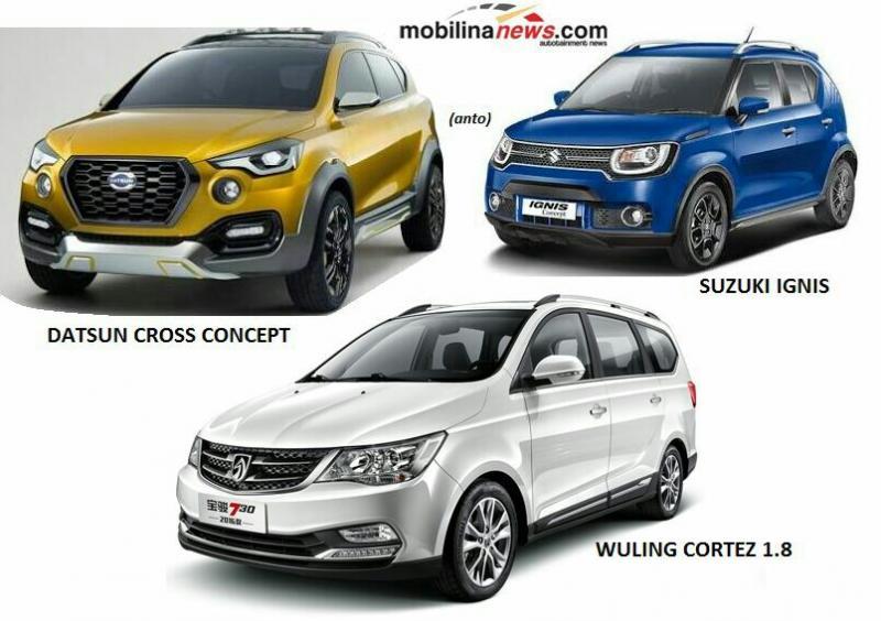 Tiga mobil Yang Akan dilaunching di Jakarta. (foto : ist)