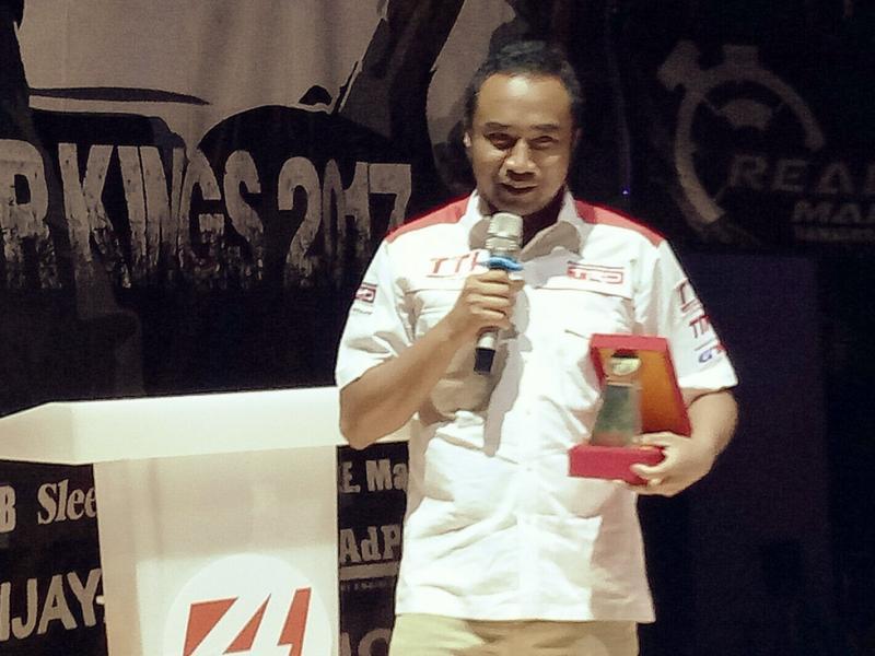 Haridarma Manoppo andalan TTI di balap mobil ISSOM 2018. (Foto : budsan)