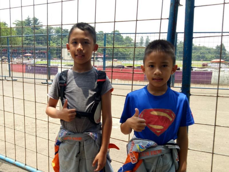 Aditya Wibowo dan Calvin Wibowo, sama-sama pernah menyandang juara nasional Cadet Rok. (foto : budsan)