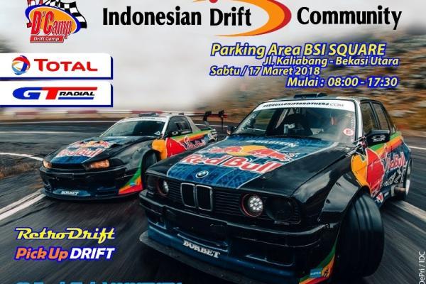 Indonesia Drift Community (IDC) gelar Drift Camp bertajuk March Sideway tanggal 17 Maret mendatang di BSI Square Bekasi