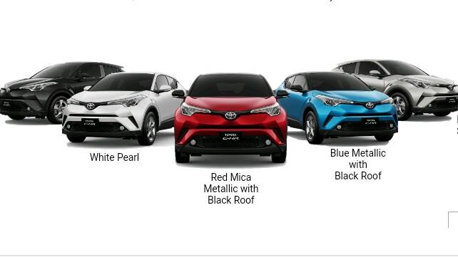 Toyota C-HR dengan berbagai warna pilihan, siap menyapa Anda. (foto : Toyota)
