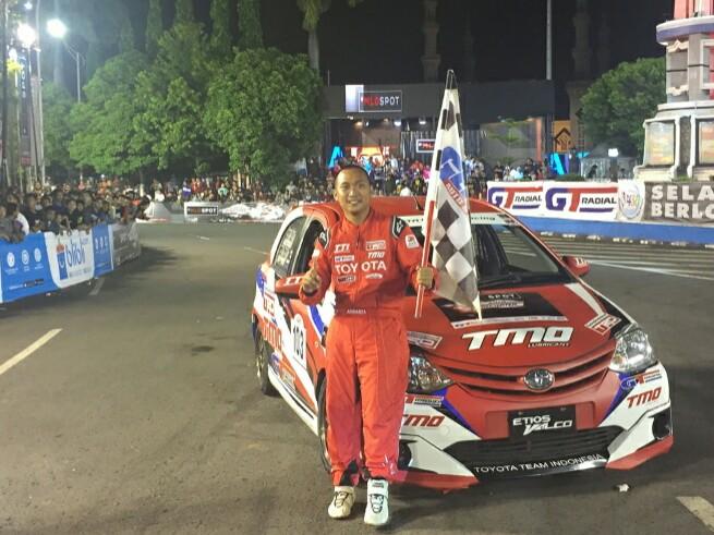 Adrianza Yunial dari TTI kembali memenangi kelas F di Kejurnas MLDSpot Tegal. (foto : ist)