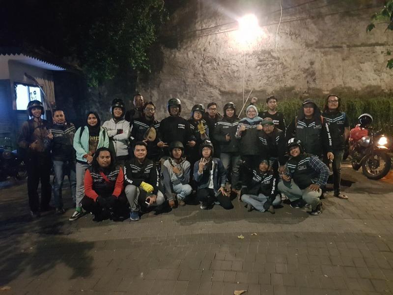 Kopdar Kawasaki Retro Riders di Joglo Beer, Jakarta Selatan. (foto : mobilinanews)