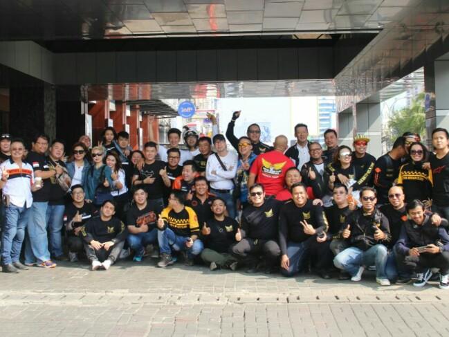 Para peserta Sunmori komunitas Motor Gede Club di Jakarta. (foto : ist)