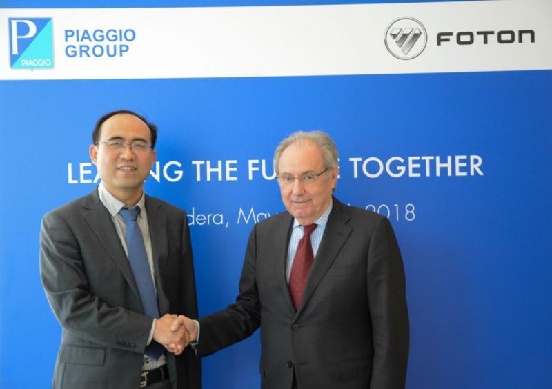 Piaggio Group dan Foton Motor berkolaborasi untuk memproduksi kendaraan niaga ringan (ist)