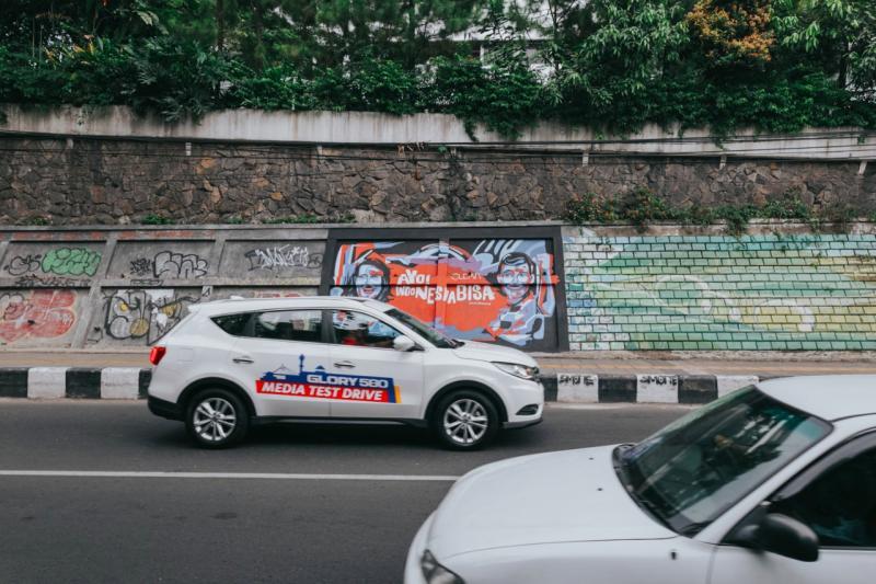 DFSK Glory 580 dengan 3 keunggulannya siap menyapa penggemar SUV di Indonesia. (foto : kusnadi)