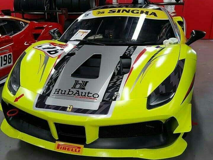 Ferrari F488 Challenge yang siap digeber Setiawan Santoso di sirkuit Fuji Speedway. (foto : Ist)