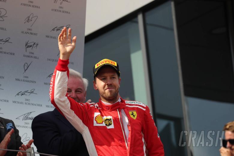 Vettel di podium GP Austria (ist)
