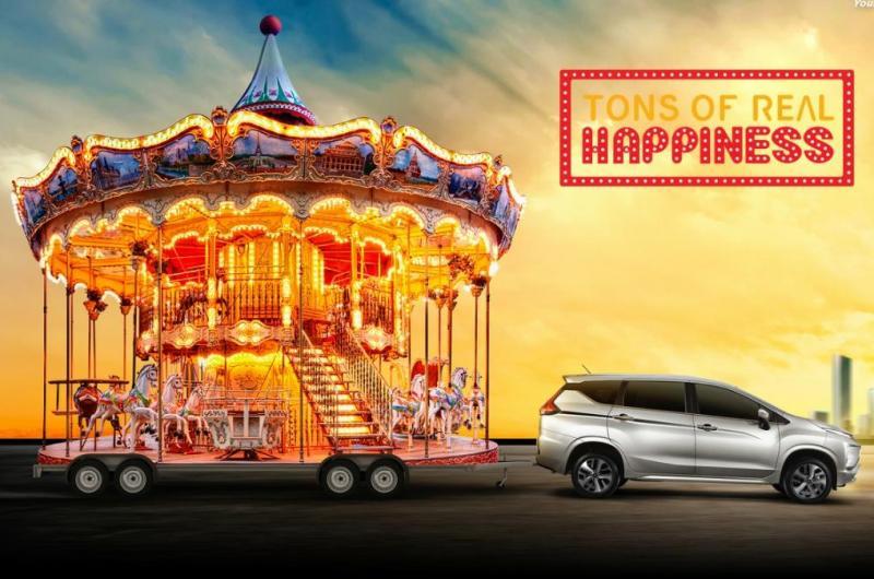 Tons of Real Happiness, Kebahagiaan Nyata ala Mitsubishi. (foto: Mitsubishi)