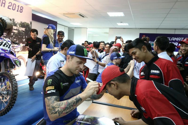 Acara meet & great dilakukan crosser Yamaha sebelum berlaga di MXGP Semarang. (foto : ist)