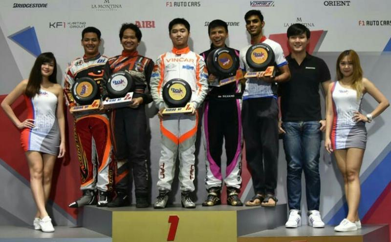 Rava podium 2, Silvano 3 dan Harits 4 di Asia Rok Cup Singapura. (foto : ist)