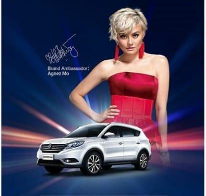 Agnes Monica Jadi Brand Ambassador Mobil Tiongkok DFSK Glory 580