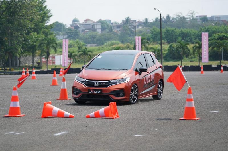 All New Honda Jazz terbukti handal di Trek Safety Driving. (foto: ist)