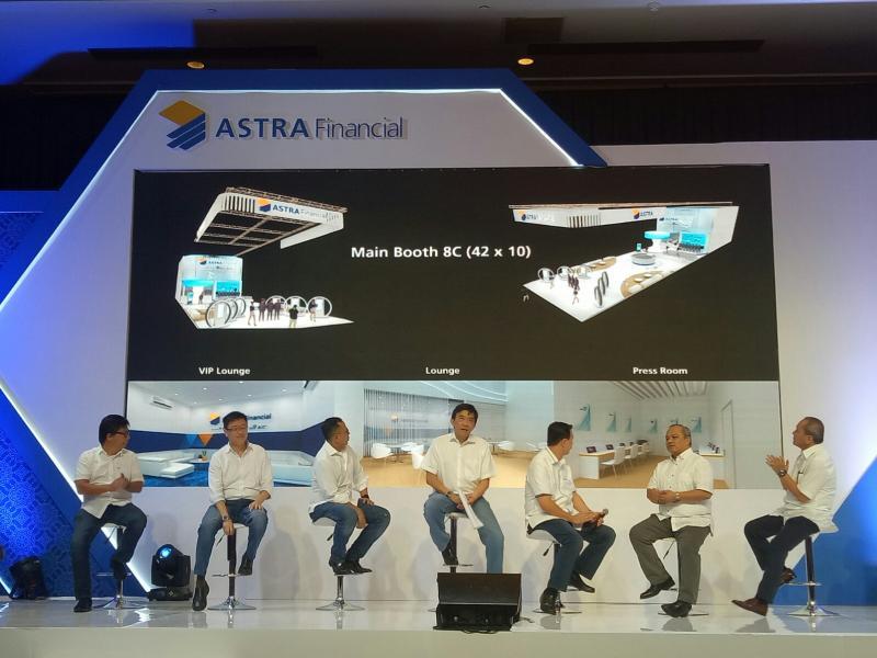 Astra Financial membuka 10 booth utama, dan 9 booth pendukung hingga ke venue test drive. (foto : budsan)