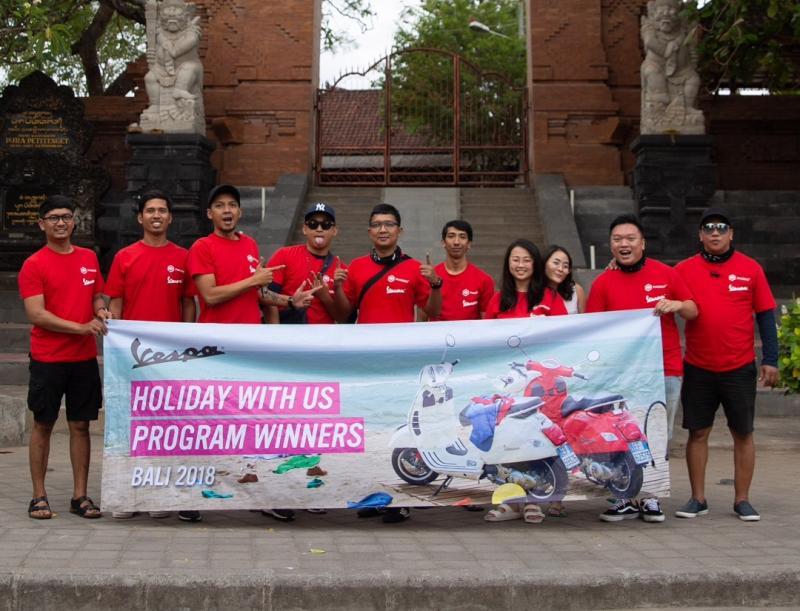 Para pemenang Piaggio Vespa Escape Tour di Pulau Bali