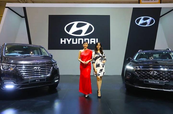 All New Hyundai Santa Fe dan New Hyundai H-1 jadi yang paling laris di GIIAS 2018. (foto: anto)