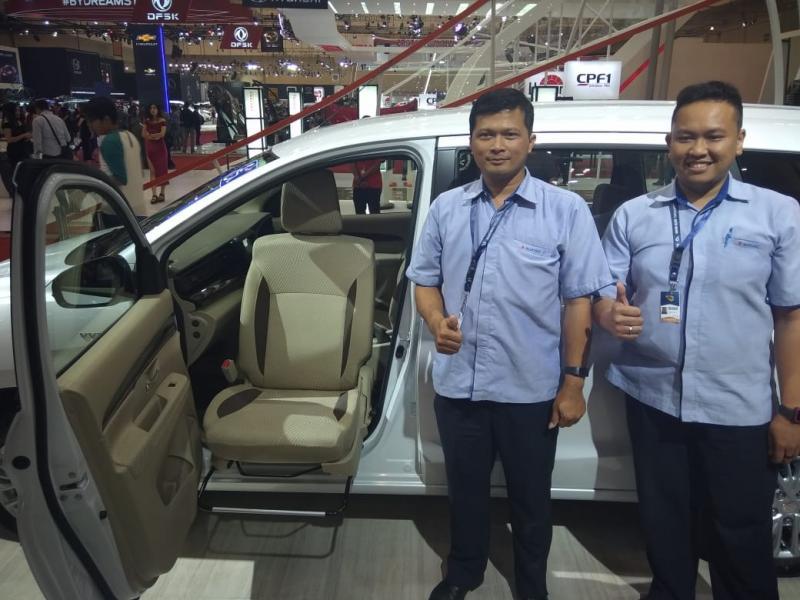 All New Suzuki Ertiga Support Concept dengan ubahan khusus pada jok penumpang depan. (foto: anto)