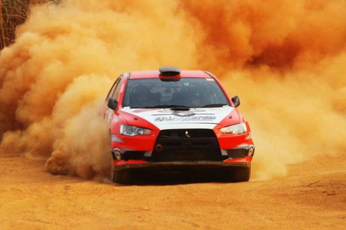 Salah satu aksi peserta Merdeka Sprint Rally 2018 di Paramount, Gading Serpong. (foto : BS)