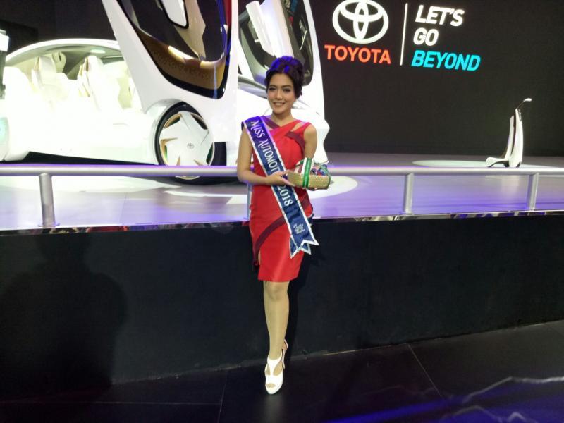 Hanny, Toyota Pretty yang dinobatkan sebagai Miss Automotive. (foto : BS)
