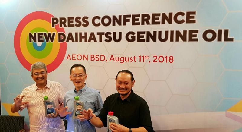 Peluncuran pelumas Daihatsu di kawasan BSD City, Tangerang. (foto : ist)