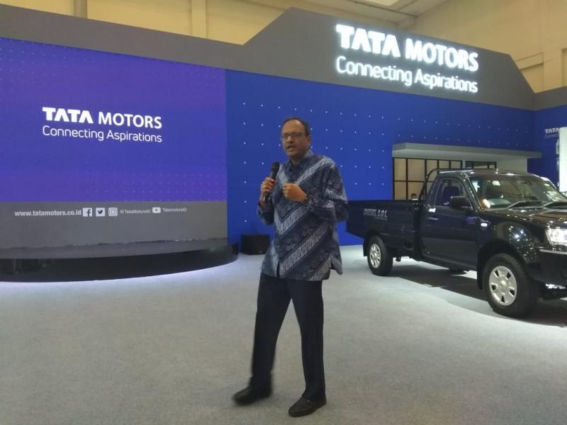 Tata Motors raih pencapaian terbesar di pameran otomotif sejak 2012. (foto: anto)